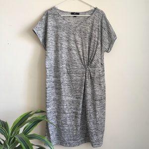 ellos Dresses - Ellos grey knit knot front dress